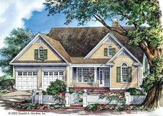 Eplans Cottage House Plan - Builder Friendly - 1457 Square Feet and 3 Bedrooms from Eplans - House Plan Code HWEPL08621