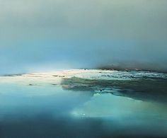 Paintings at the arctic, ice and tundra Seascape Paintings, Oil Painting On Canvas, Watercolor Painting, Canvas Art, Landscape Art, Landscape Paintings, Ocean Canvas, Moonlight Painting, Human Figures