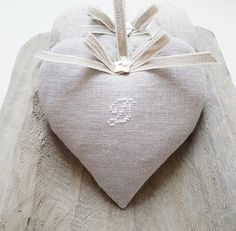 Lavender Heart with embroidered script Halloween Gifts, Halloween Decorations, Doll Home, Lavender Sachets, Fabric Dolls, Mother Day Gifts, Personalized Gifts, Winter Hats, Textiles