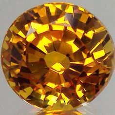 Sapphire - Round Shape Superior Yellow Colour