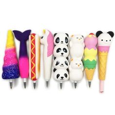 Squishy Pen Cap Ice Cream Cone Animal Slow Rising Jumbo With Pen Stress Relief Toys Student Office Gift Cat Ice Cream, Wallpaper Collage, Children's Day Gift, Student Office, Panda, Pencil Toppers, Unicorn Cat, Kegel, Stress Relief Toys