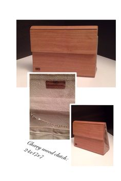 Cherry wood clutch by Silkwood design