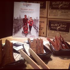 Sneak peak to new products for this year- Jerky Strips! Smoked Salmon, Ice Cream, Desserts, Food, Products, No Churn Ice Cream, Tailgate Desserts, Deserts, Icecream Craft