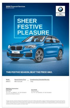 bmw-financial-services-sheer-festive-pleasure-ad-times-of-india-delhi. Check out… - My Design Ideas 2019 Food Graphic Design, Web Design, Design Ideas, Auto Poster, Car Posters, Advert Design, Advertising Design, Ads Creative, Creative Advertising