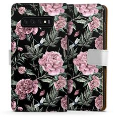 Dark flower für Sideflip mit Lasche (weiß) für Samsung Galaxy S10 von DeinDesign™