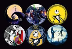The Nightmare Before Christmas Buttons Pins