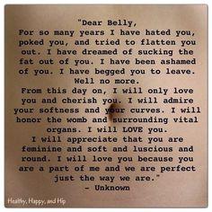 Dear belly... <3