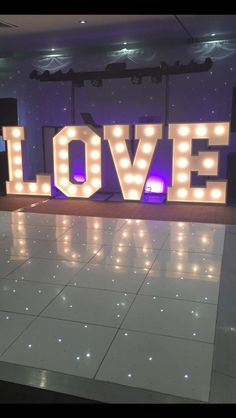 Light Up Led Love Letters HIRE in Home, Furniture & DIY, Wedding Supplies, Venue Decorations | eBay