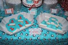"""Photo 1 of 32: Winter ONEderland - red and aqua color palette with snowflakes, penguins and polar bears / Birthday """"Landon's Winter ONEderland First Birthday Party"""" 