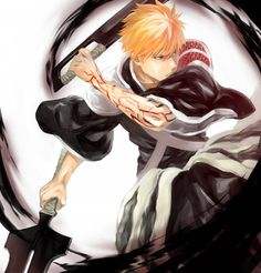 Pixiv Id 3394385, BLEACH, Kurosaki Ichigo, Shinigami Uniform, Bleach, Anime #anime #bleach | zerochan.net | www.evilentertainment.ca
