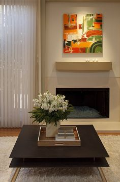 I like that there is no brick on the fireplace, very clean and sleek looking