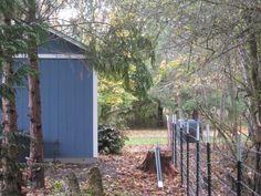 Putting in fence behind art studio will be adding shade garden next season