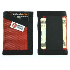 """Card Wallet With Money Clip """"DECOMMISSIONED FIRE HOSE"""""""