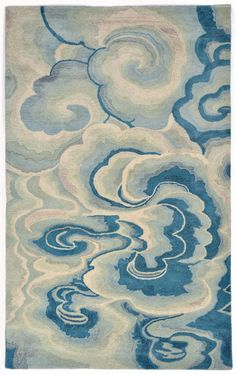 Trans-Ocean Fuji Cloud Blue. #bohochic #rugs