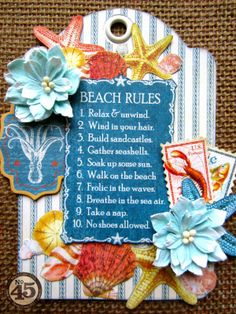 Graphic 45 By The Sea Tag Tutorial by Maria Cole.