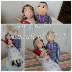 Topo de Casamento...Noivo com Noiva no colo segurando garrafa champagne.