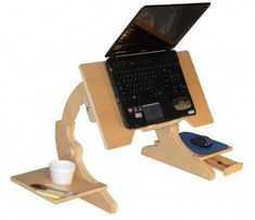 Picture of Comfortable Laptop Bed Desk Laptop Bed Tray Bed Stand Portable Bed Desk Notebook Computer Table Adjustable Ergonomic W/ Mouse Pad Holder/Drawer and Cup Holder . . . .NOW WITH CUP HOLDER . . . . FOLDABLE . . . . Made in USA by ErgoArc 2 . . . . Specially designed for Laptops, Notebooks & Tabs: Acer, Apple, Asus, Dell, Gateway, HP, Lenovo, MacBook, Toshiba, Vaio, etc. (B005UDVGXM) (Computer Desks) #computerdeskmakeover
