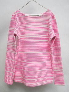 Image of Women Marinière Neon Pink Stripes