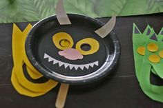 """Wild Things party masks craft companion to """"WHERE THE WILD THINGS ARE"""""""