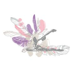 Yoga Art Illustration Printable Art Digital by BohoVibeCreations