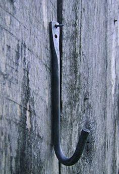 Hand Forged Blacksmithed Iron Wall Hooks. $15.00, via Etsy.