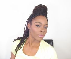 Top Knot Bun with a Ponytail Lock Hairstyle Tutorial/Jungle Barbie