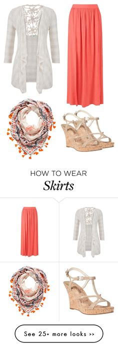 """Maxi Skirt Look #3"" by glamupparties on Polyvore"