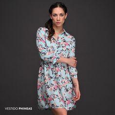 #Tendencias de #primavera: el Vestido Phineas es una prenda femenina de hermoso calce con estampado floral y cintura con lazo.