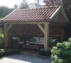 cosy in the garden RHS Garden Buildings, Garden Structures, Outdoor Structures, Pergola, Gazebo, Small Backyard Patio, Backyard Landscaping, Backyard Projects, Outdoor Projects