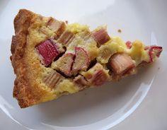 Rhubarb Custard Tart Recipe | mostly foodstuffs