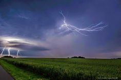 Lightning from a thunderstorm over Germany. photo from Courtesy +Weather Lightning Photos, Great Shots, Thunderstorms, Wind Turbine, Thor, Germany, Europe, Weather, Lights