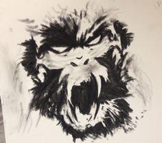 Monkey tattoo drawing