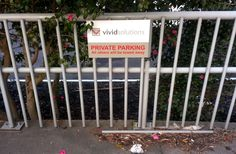 Carpark sign for Vivid Solutions by Speedy Signs Newton