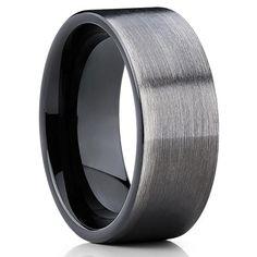 12mm,Gunmetal Tungsten Ring,Brushed Tungsten Ring,Black Tungsten Band,Anniversary