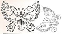 This is going to be a huge post because there are so many patterns for butterflies out there online! So I& going to just put them one afte. Crochet Butterfly Free Pattern, Irish Crochet Patterns, Crochet Motifs, Crochet Diagram, Crochet Chart, Crochet Doilies, Papillon Violet, Crochet Angels, Crochet Books