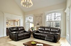 """2 pc Keara collection dark brown top grain leather match power motion sofa and love seat with recliner ends. This set includes the Sofa and love seat power motion recliner ends. Sofa measures 83 1/2"""" x 39 3/4"""" x 39 1/4"""" H. Love seat measures 62 5/8"""" x 39 3/4"""" x 39 1/4"""" H. Optional single recliner available at additional cost and measures 41 1/4"""" x 39 3/4"""" x 39 1/4"""" H. Some assembly required."""