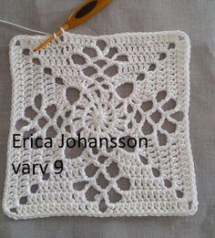 Victorian lattice square – SVENSKA av Erica Johansson /150710 ____________________________________________________________ Har fått tillåtelse av Destany Wymore att överätta hennes mönster fr…
