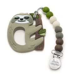 Loulou Lollipop Sloth Soft Silicone Teether - Premium Baby Teether Toy with Holder Set Massaging Teether *** Want to know more, click on the image. (This is an affiliate link)