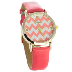HandPicked: Coral Chevron Watch [10084019] - $20.00 Coral Chevron, Spring Trends, Watches, My Style, Accessories, Jewelry, Fashion, Moda, Jewlery