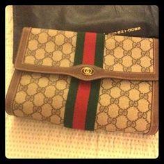 309ee9ca748 Handbags - Vintage Gucci clutch  102. Poshmark.com