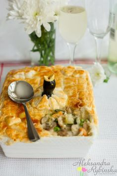 Aleksandra's Recipes: Creamy chicken & vegetable pie (with step-by-step photos)