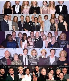 AHS Cast through the Seasons.
