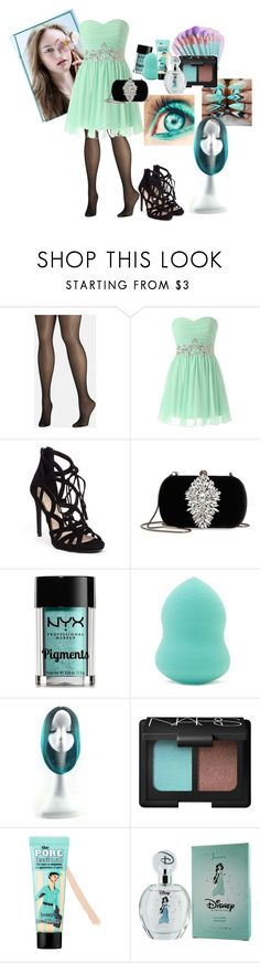 """""""lamy-874"""" by amy-888 ❤ liked on Polyvore featuring Avenue, Jessica Simpson, Badgley Mischka, NYX, Forever 21, WithChic, NARS Cosmetics, Benefit and Disney"""