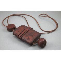 Handcrafted Inro Faux Leather Long Necklace No 108 by 11BOLDstreet, $52.00
