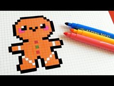 Handmade Pixel Art - How To Draw Kawaii Hamburger #pixelart #kawaii - YouTube