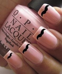 Mustache nail decals