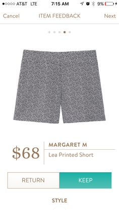 Margaret M- Lea Printed Shorts via Stitch Fix review from Actually shley