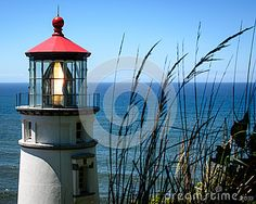 The famous lighthouse on the Oregon coast, easily accessible from Highway 101.
