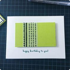 Mannen kaarten maken moeilijk? ik vind van niet.#stampinup #stampinup2018 #Stampin'Up! #Stampin'Up!2018 #cardmaking #diy #kaartenmaken #papercraft #washitape