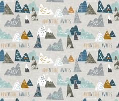 Max's Mountains fabric by nouveau_bohemian on Spoonflower - custom fabric